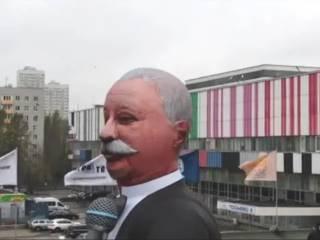 Надувная фигура Леонида Якубовича